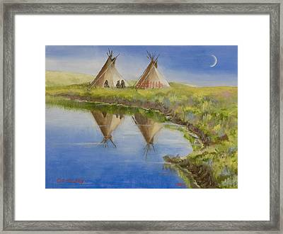 Pawnee Camp Framed Print by Jerry McElroy