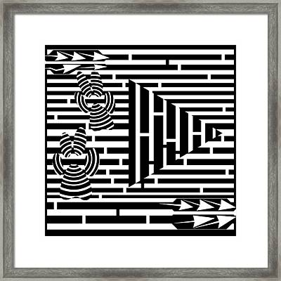 Paws Pause Play Maze Framed Print by Yonatan Frimer Maze Artist