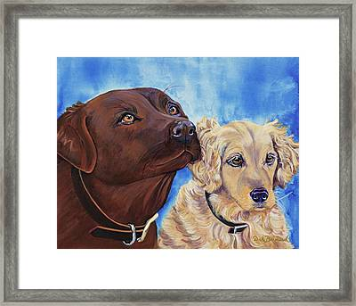 Pawsitively Friends Framed Print