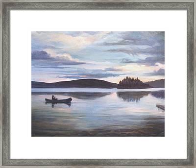 Payette Lake Idaho Framed Print by Donna Tucker