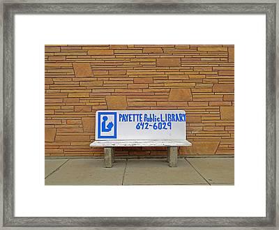 Payette Library Bench Framed Print