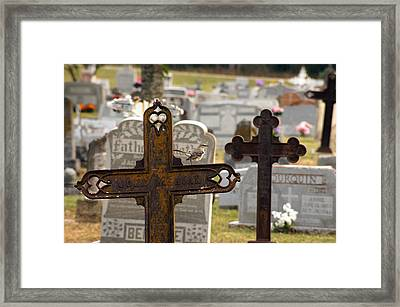 Paying Respect Framed Print