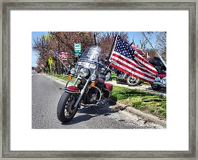 Paying Respect Framed Print by Thomas  MacPherson Jr