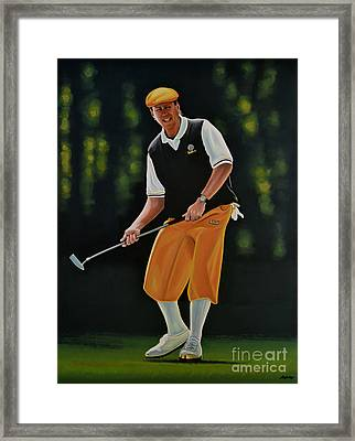 Payne Stewart Framed Print by Paul Meijering