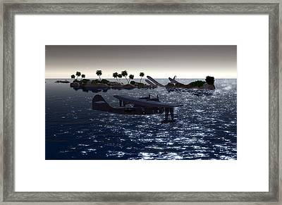 Pby In The Water Framed Print by Mark Weller