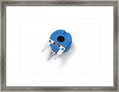 Pcb Potentiometer Framed Print by Trevor Clifford Photography