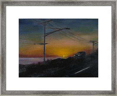 Pch At Night Framed Print by Lindsay Frost