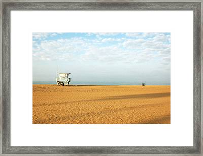 Pch Lifegaurd Station Framed Print by Ari Jacobs