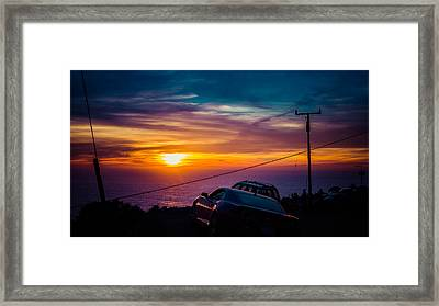 Pch Pacific Coast Highway  Big Sur  California Framed Print