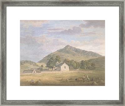 Haymaking At Dolwyddelan Framed Print by Paul Sandby