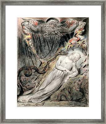 Pd.20-1950 Christs Troubled Sleep Framed Print by William Blake