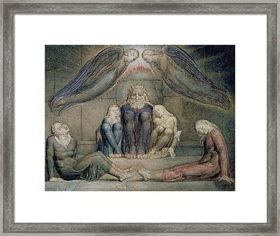 Pd.5-1978 Count Ugolino And His Sons Framed Print by William Blake