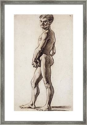 Male Nude Framed Print by Paul Cezanne