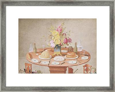 Pd.869-1973 Still Life With A Vase Framed Print by Jean-Louis Prevost