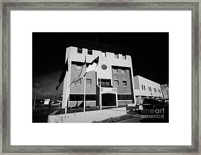 Pdi Policia De Investigaciones De Chile Offices Punta Arenas Chile Framed Print by Joe Fox