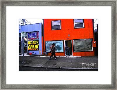 Pdx Street  Framed Print by Carl Warren