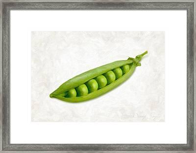 Pea Pod Framed Print by Danny Smythe