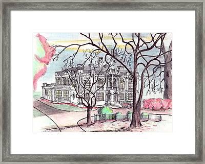 Peabody Library Framed Print