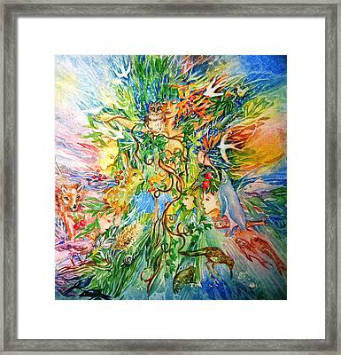 Peacable Kingdom No.2 Framed Print by Trudi Doyle