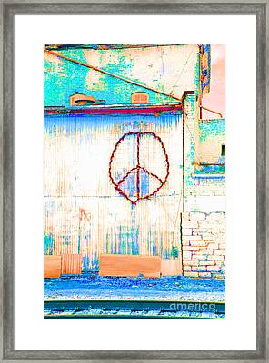 Framed Print featuring the photograph Peace 1 by Minnie Lippiatt