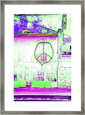 Framed Print featuring the photograph Peace 2 by Minnie Lippiatt