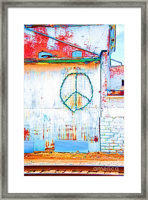 Framed Print featuring the photograph Peace 3 by Minnie Lippiatt