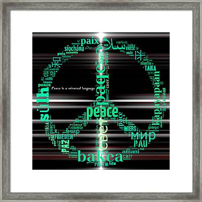 Peace Across The Universe Framed Print