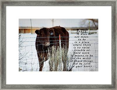 Peace And Calm Framed Print by Janice Rae Pariza