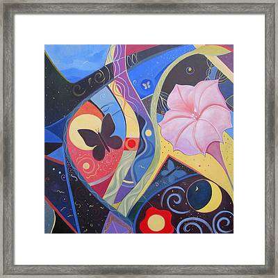 Peace And Flow Framed Print