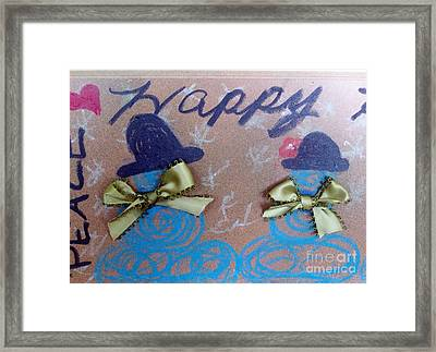 Peace And Happiness Framed Print by Jackie Bodnar