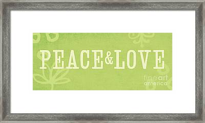 Peace And Love Framed Print by Linda Woods