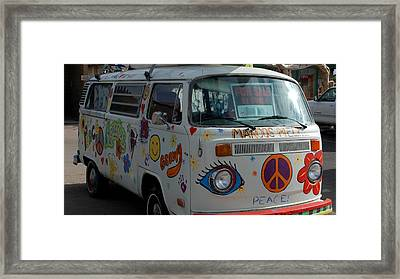 Framed Print featuring the photograph Peace And Love Van by Dany Lison