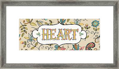 Peace And Paisley Iv Framed Print by Anne Tavoletti