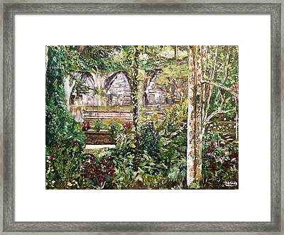 Framed Print featuring the painting Peace And Quiet by Belinda Low