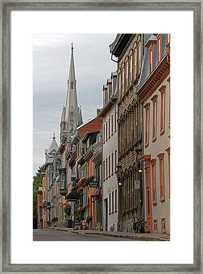 Peace And Quiet Of Rue De Sainte Ursule Framed Print by Juergen Roth
