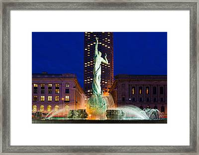 Peace Arising From The Flames Of War Framed Print