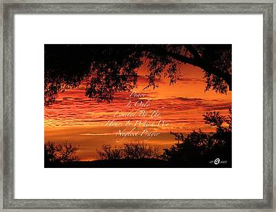 Peace At Last Framed Print by David  Norman