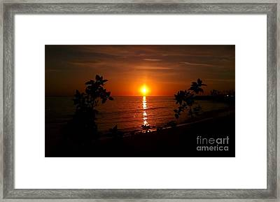 Framed Print featuring the photograph Peace At The Beach by Chris Tarpening