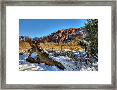 Peace At The Crossing Framed Print by Thomas  Todd