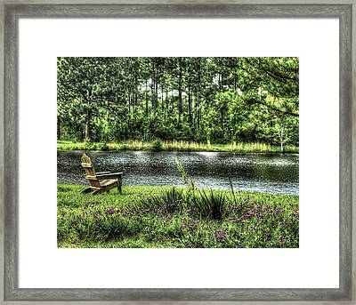 Peace At The Pond Framed Print by EG Kight