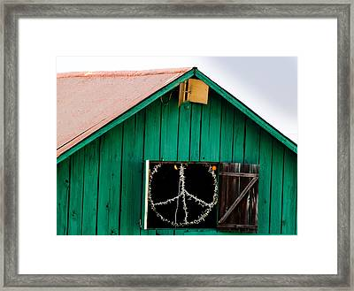 Peace Barn Framed Print by Bill Gallagher