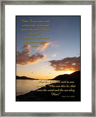Peace Be Still Framed Print by Glenn McCarthy Art and Photography