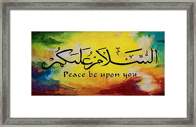 Peace Be Upon You Framed Print by Salwa  Najm