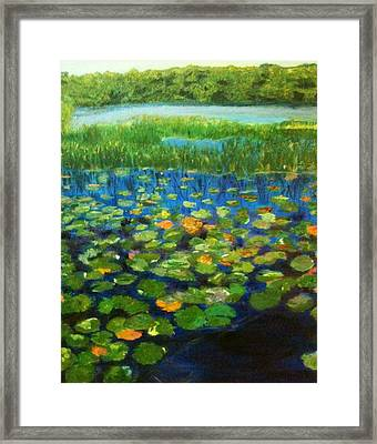 Framed Print featuring the painting Peace Be With You by Belinda Low