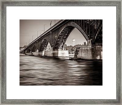 Peace Bridge Framed Print