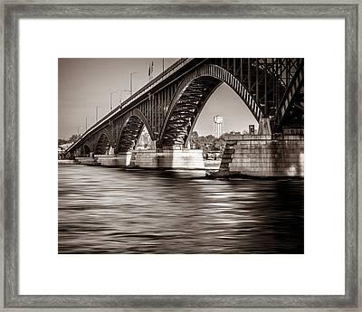 Peace Bridge Framed Print