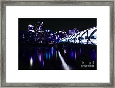 Peace Bridge Feeling The Blues Framed Print by Bob Christopher