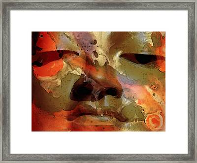 Peace Buddha - Spiritual Art Framed Print by Sharon Cummings