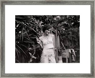 Framed Print featuring the photograph Peace Chick by Greg Allore