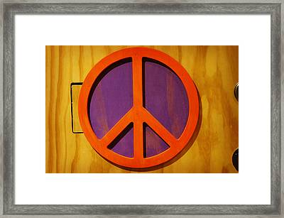 Framed Print featuring the photograph Peace Decal by Artistic Panda